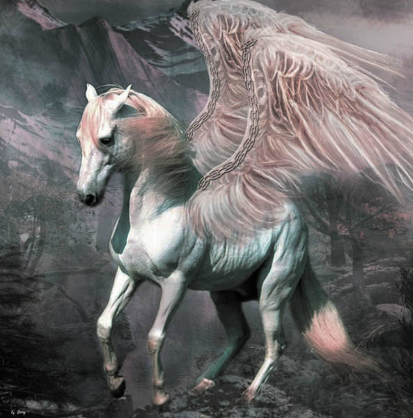 Greek Mixed Media - The Magic Of Pegasus by G Berry