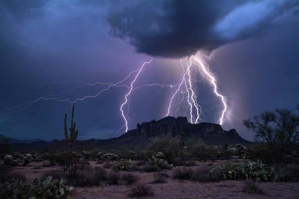 Superstition Mountains Photograph - The Magic Of The Monsoon  by Saija Lehtonen