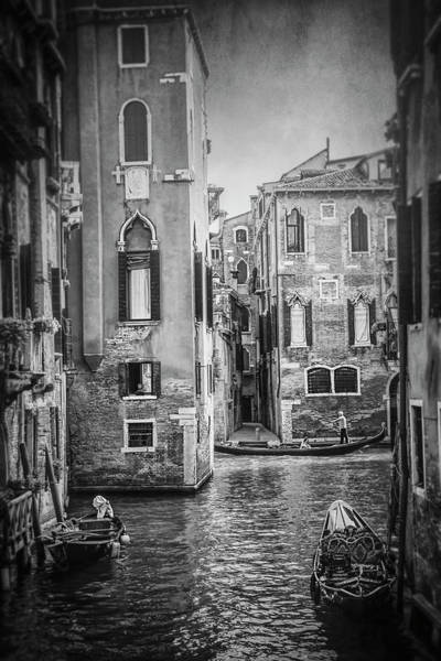 Wall Art - Photograph - The Magic Of Venice Italy In Black And White by Carol Japp