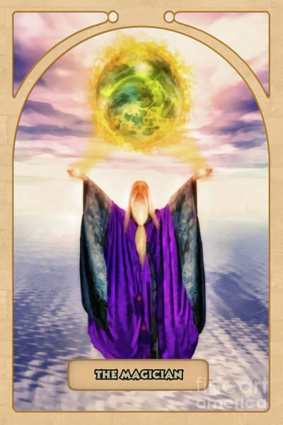 Mystic Digital Art - The Magician by John Edwards