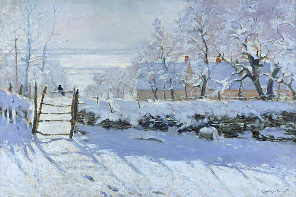 Painting - The Magpie Claude Monet 1869 by Claude Monet