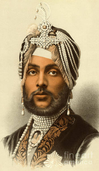 Handsome Drawing - The Maharajah Duleep Singh by English School