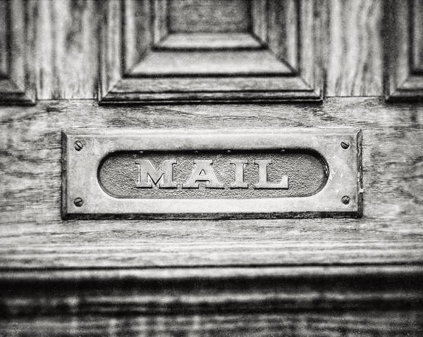Mail Slot Photograph - The Mail II  by Lisa Russo