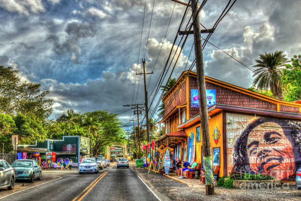 Photograph - The Main Drag Haleiwa Road North Shore Hawaii Collection Art by Reid Callaway