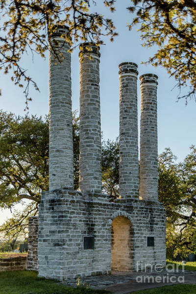 Photograph - The Majestic Columns Of Old Baylor University by Teresa Wilson