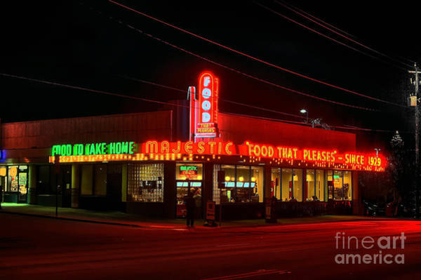 Conyers Photograph - The Majestic Diner by Corky Willis Atlanta Photography