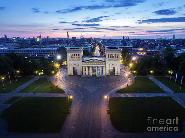 Photograph - The Majestic Koenigplatz by Hannes Cmarits