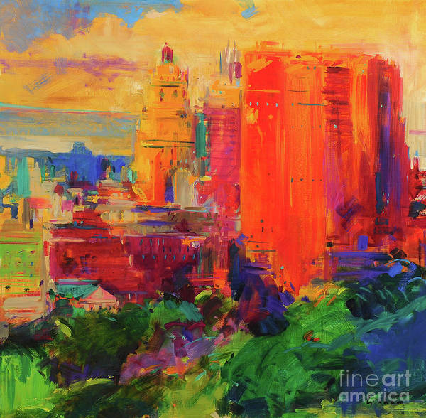 Wall Art - Painting - The Majestic, New York by Peter Graham
