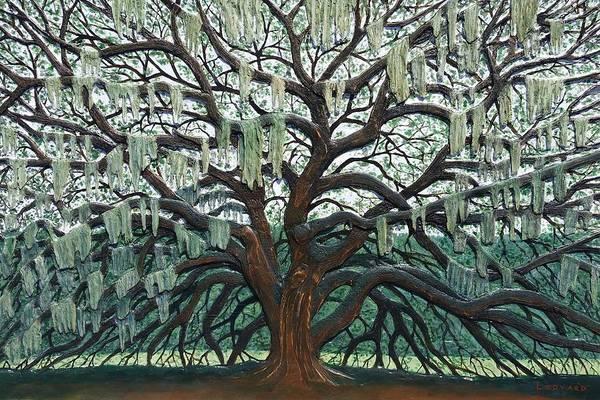 Angel Oak Painting - Majestic Oak  by Nathan Ledyard