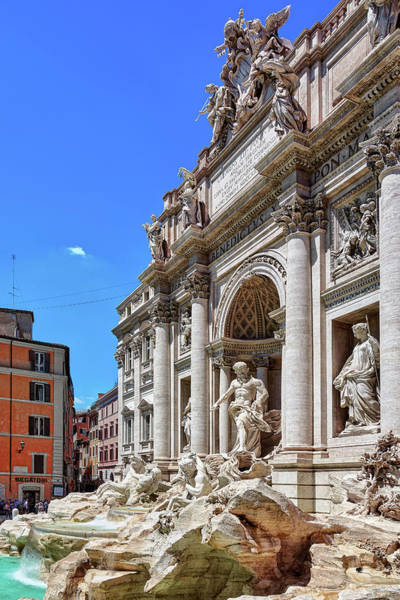 Photograph - The Majesty Of The Trevi Fountain In Rome by Fine Art Photography Prints By Eduardo Accorinti