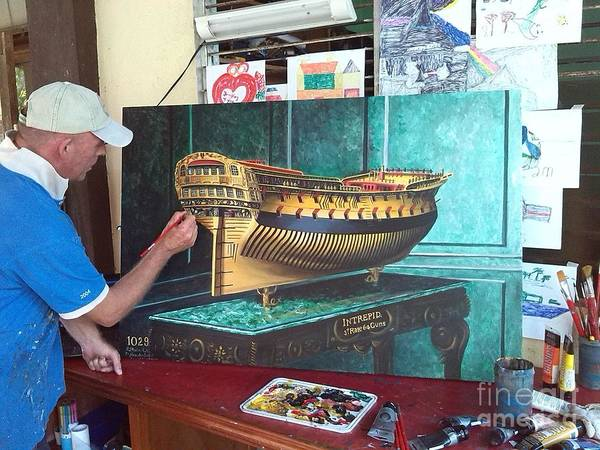 Wall Art - Painting - The Making Of The Intrepid by Richard John Holden RA