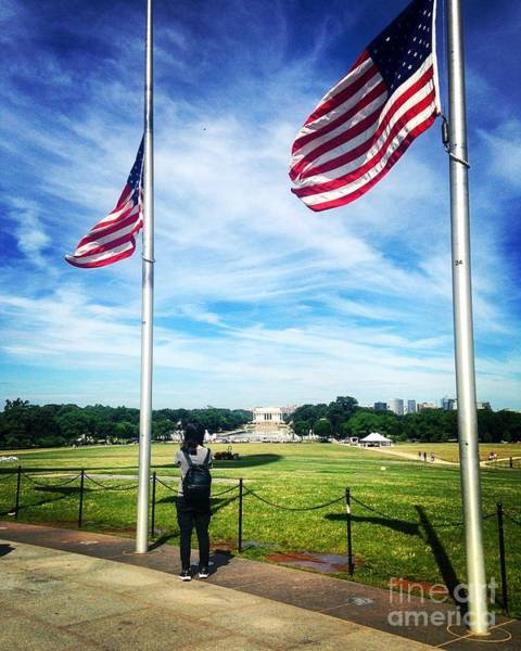 Photograph - The Mall At Half Mast by Angela Rath