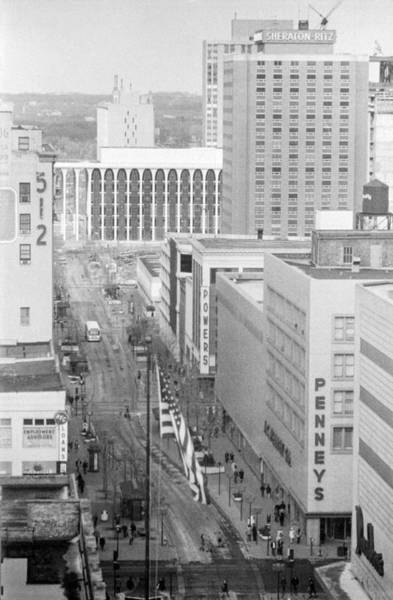 Photograph - The Mall From Dayton's 12th Floor by Mike Evangelist