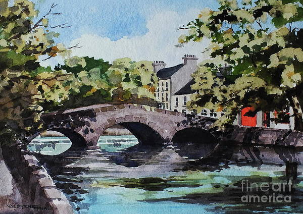 Painting - The Mall, Westport, Mayo by Val Byrne
