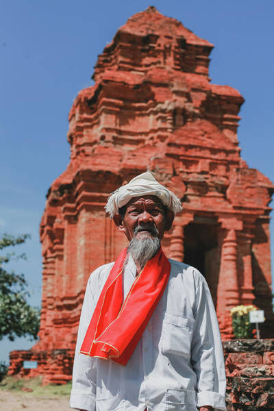 Photograph - The Man Holds The Tower Champa by Tran Minh Quan