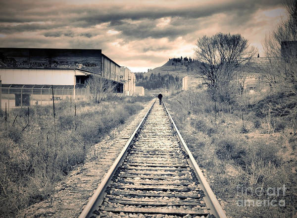 Okanagan Wall Art - Photograph - The Man On The Tracks by Tara Turner