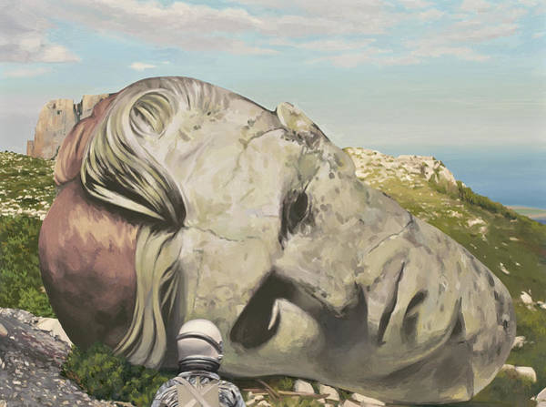 Science-fiction Wall Art - Painting - The Man Who Fell To Earth by Scott Listfield