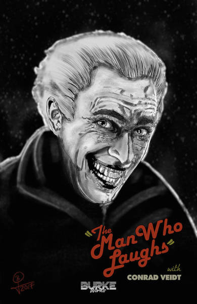 The Man Who Laughs Art Print by Joseph Burke