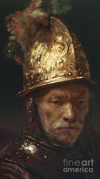 Elderly Wall Art - Painting - The Man With The Golden Helmet by Rembrandt