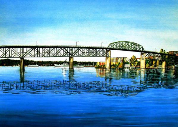 Wall Art - Painting - The Manette Bridge by Stephen Abbott
