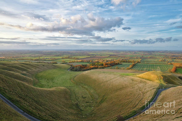 Photograph - The Manger At Uffington In Autumn by Tim Gainey