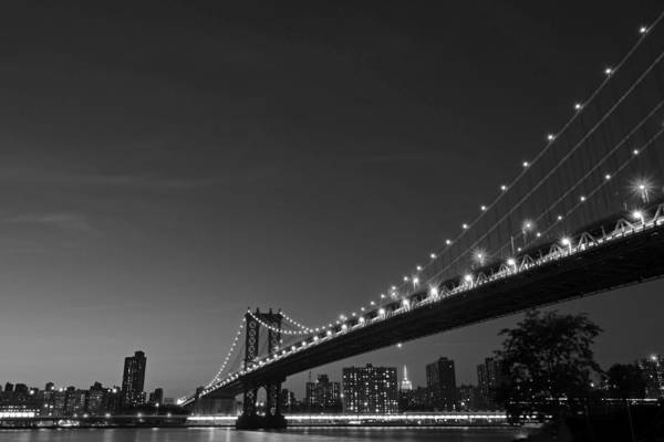 Photograph - The Manhattan Bridge New York City Black And White by Toby McGuire