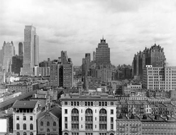 Wall Art - Photograph - The Manhattan Skyline by Underwood Archives