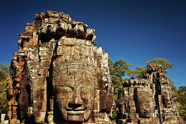 Photograph - The Many Faces Of Bayon Temple, Angkor Thom, Angkor Wat Temple Complex, Cambodia by Sam Antonio Photography