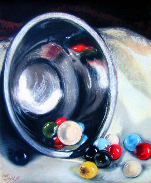 Wall Art - Pastel - The Marble Bowl by Leyla Munteanu