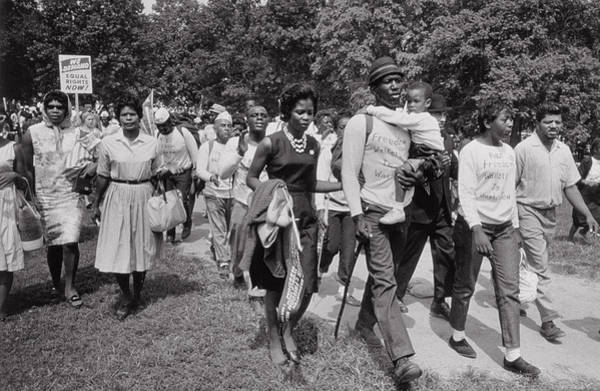 Equal Rights Wall Art - Photograph - The March On Washington  Freedom Walkers by Nat Herz