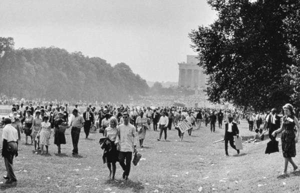 Equal Rights Wall Art - Photograph - The March On Washington  Heading Home by Nat Herz