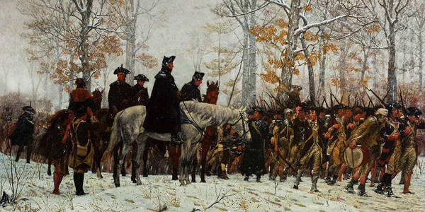 Horseback Wall Art - Painting - The March To Valley Forge, Dec 19, 1777 by William Trego