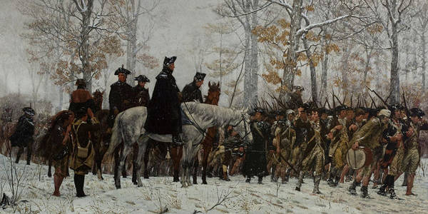 Forge Wall Art - Painting - The March To Valley Forge, December 19, 1777 by William Trego
