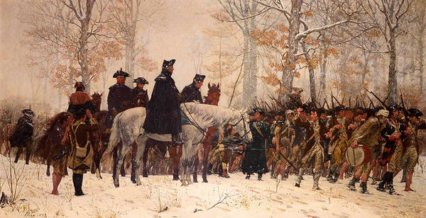Forge Wall Art - Painting - The March To Valley Forge by Mountain Dreams