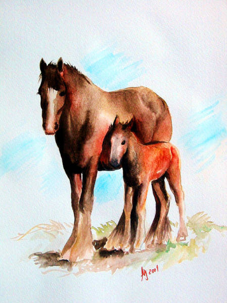Wall Art - Painting - The Mare by Leyla Munteanu