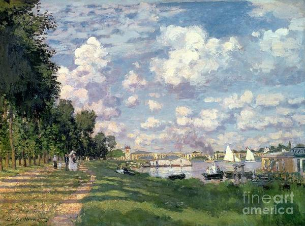 Monet Painting - The Marina At Argenteuil by Claude Monet