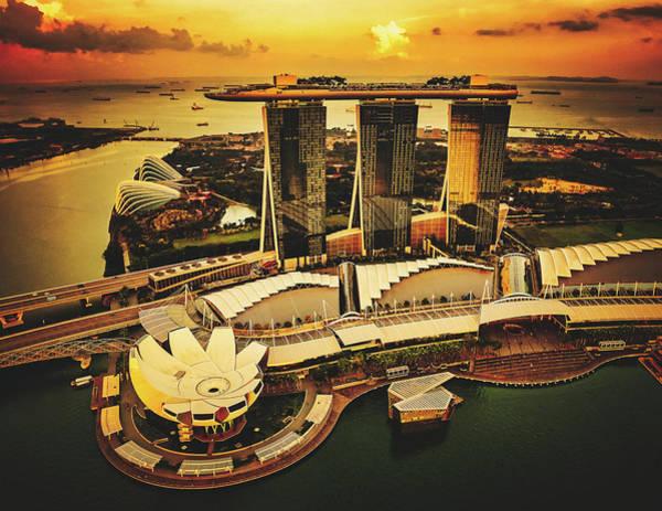 Wall Art - Photograph - The Marina Bay Sands - Singapore by Unsplash