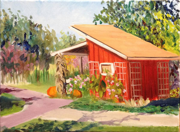 Meijer Painting - The Market At Meijer Gardens by Mary Marin
