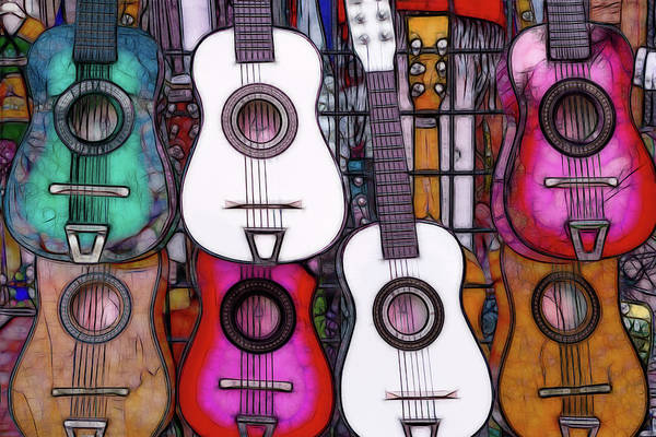 Photograph - The Market - Colorful Guitars - Series 1/4 by Patti Deters
