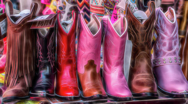Photograph - The Market - Cowboy Boots - Series 4/4 by Patti Deters