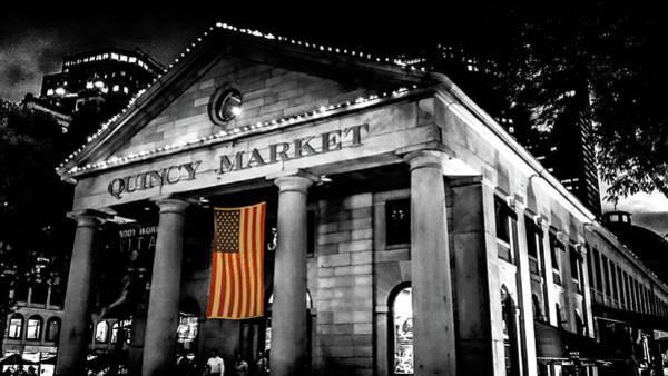 Quincy Market Digital Art - The Market by Kenny Kunzman