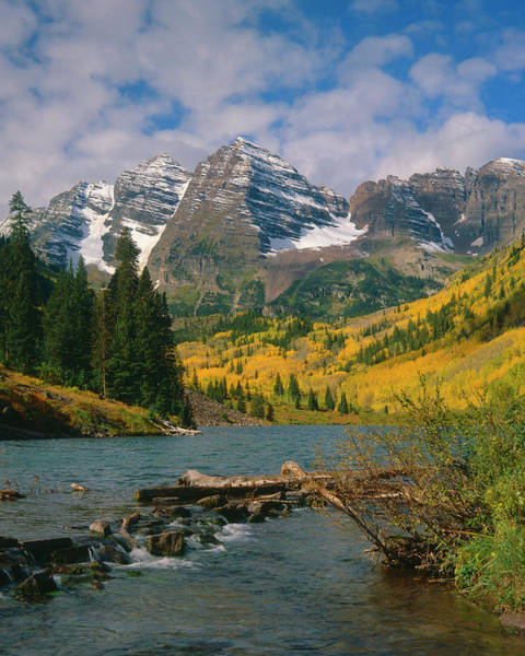 Photograph - The Maroon Bells In Autumn by Mark Miller