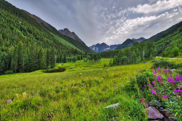 Photograph - The Maroon Bells - Maroon Lake - Colorado by Photography By Sai