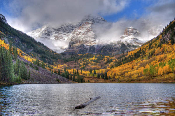 Photograph - The Maroon Bells by Steve Stuller