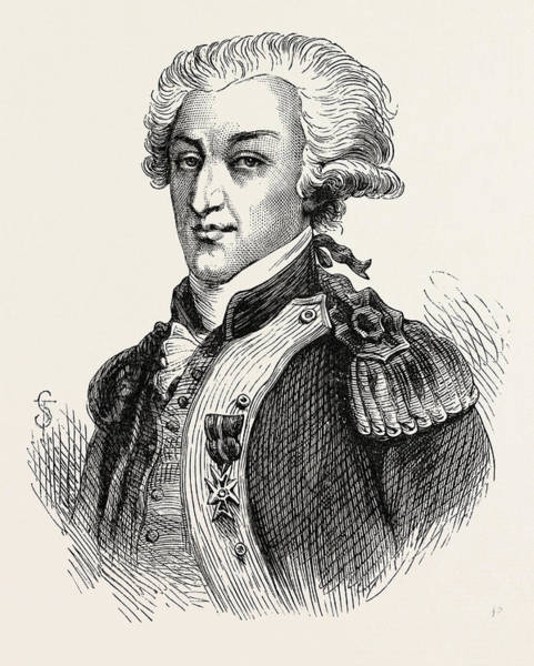 Handsome Drawing - The Marquis De Lafayette by American School