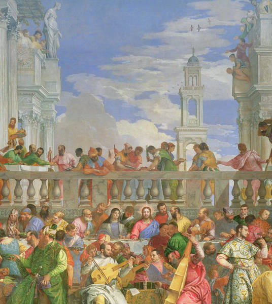 Feast Painting - The Marriage Feast At Cana by Veronese