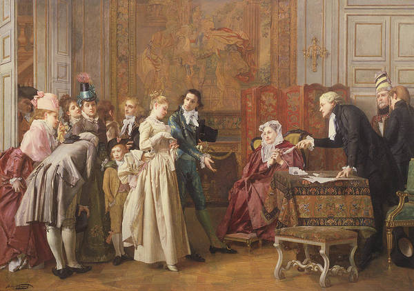 Wall Art - Painting - The Marriage  by Jules Adolphe Goupil