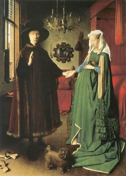 Arnolfini Painting - The Marriage Of Giovanni Arnolfini And Giovanna Cerami by Jan van Eyck