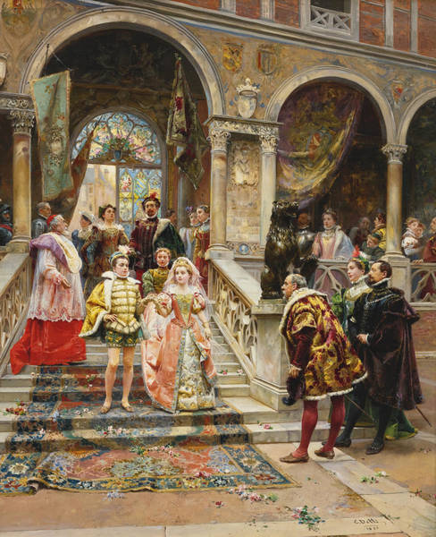 Cesare Painting - The Marriage Of The Prince by Cesare Auguste Detti