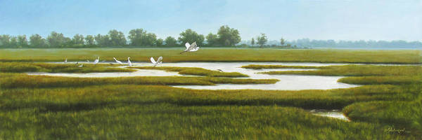 Meadowlands Painting - The Marshes by David Henderson